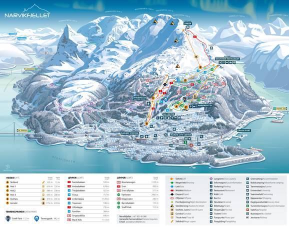 Plan des pistes Narvikfjellet – Narvik